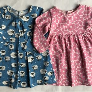 TWO dresses Winter Water Factory 6 months organic